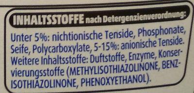 Black Feinwaschmittel - Ingredients
