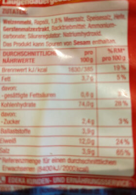 Salzstangen - Ingredients - de