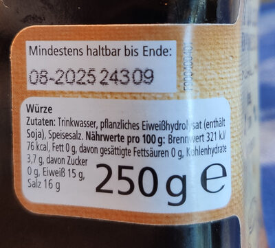 real Würze rein pflanzlich - Ingredients - de