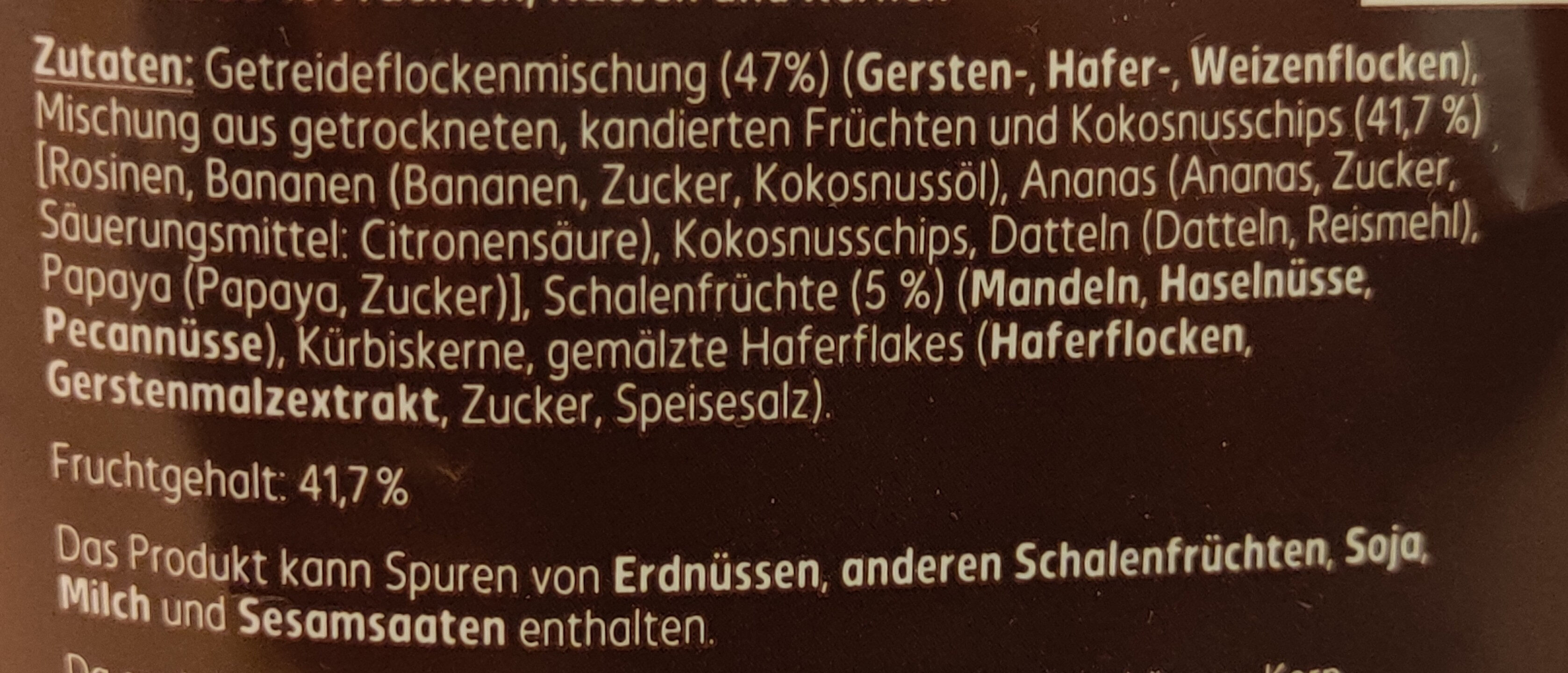 Gourmet Müsli Früchte & Nüsse - Ingredients - de