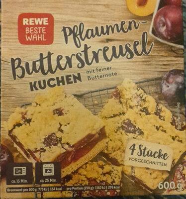 Pflaumen-Butterstreusel Kuchen - Product - de