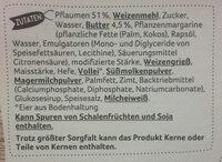 Pflaumen-Butterstreusel Kuchen - Ingredients - de
