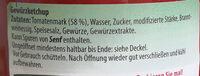 Werder Gewürzketchup - Ingredients - de