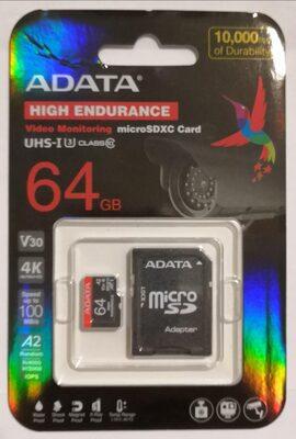ADATA High-Endurance microSDXC 64GB Kit - Product - de
