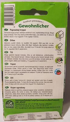 Gewohnlicher Dill - Ingredients - en
