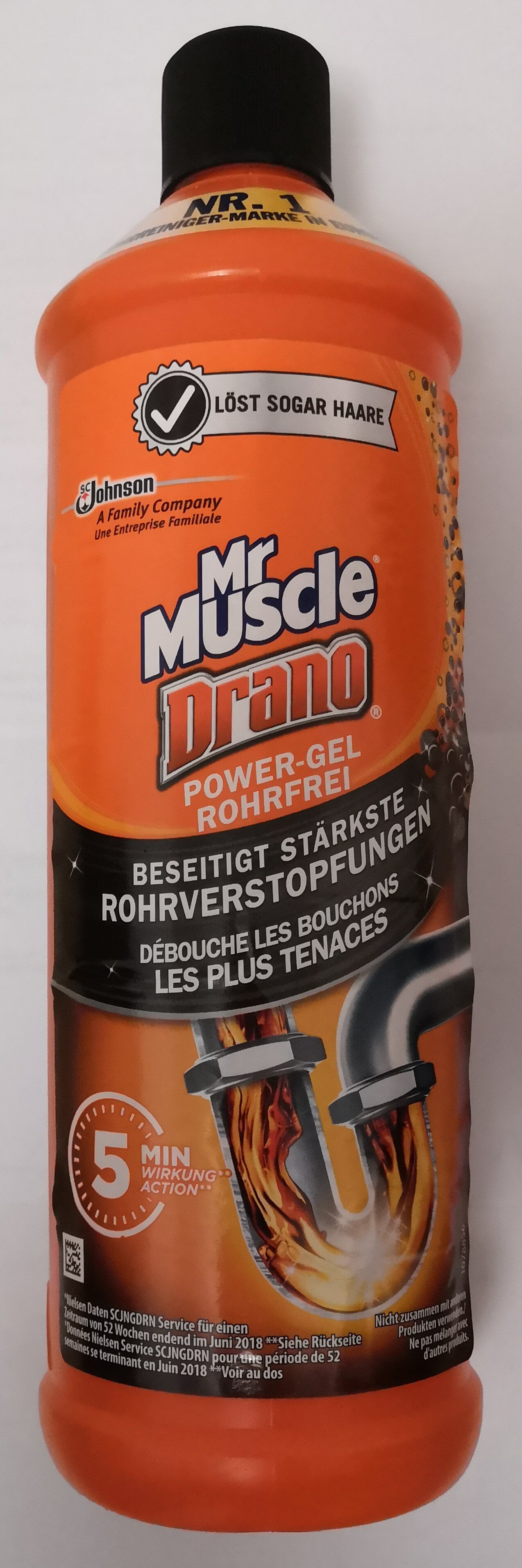 Mr Muscle Drano Power-Gel Rohrfrei - Product - de