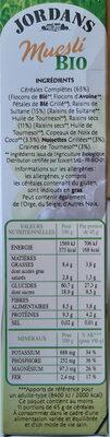 Mesli Bio - Ingredients