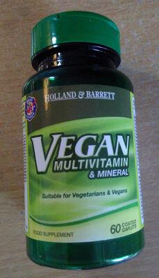 Vegan multivitamin & Mineral Food Supplement - Product