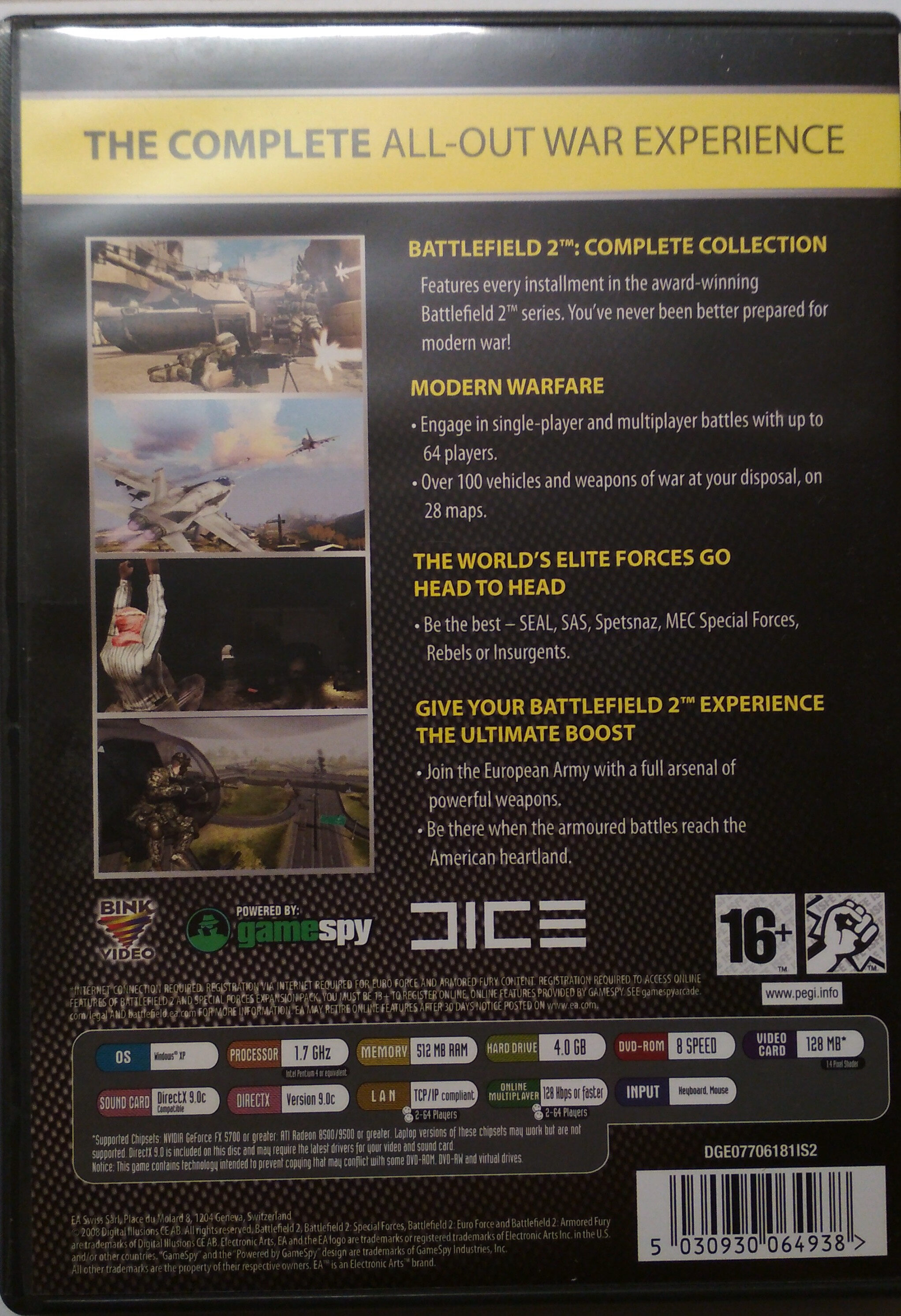 Battlefield 2 Complete Collection - Ingredients