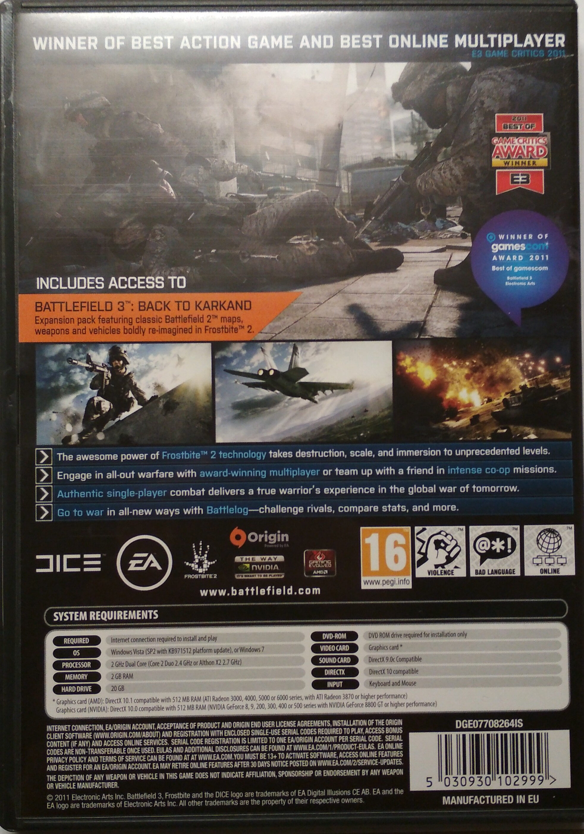 Battlefield 3 Limited Edition - Ingredients - de