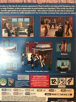 Les Sims 2 : La vie en Appartement - Ingredients - fr