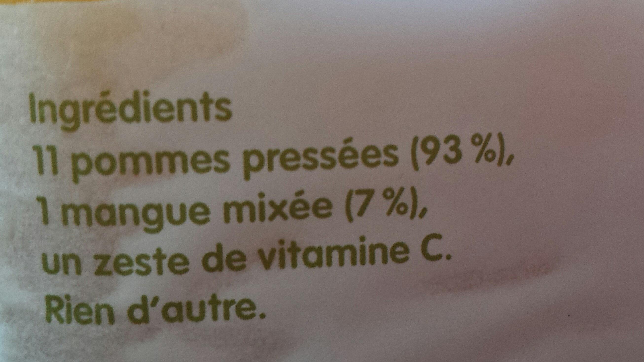 innocent - pomme & Mangue - Ingrédients - fr