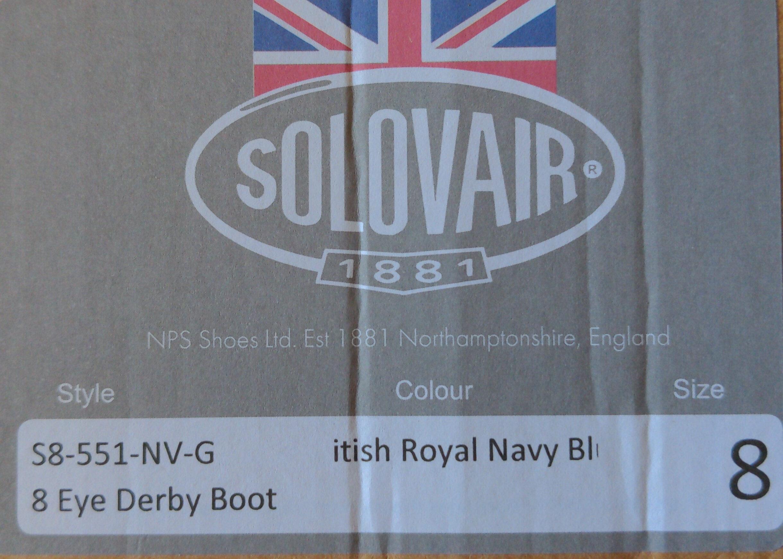 8 eye derby boot British Royal navy blue - Product - en