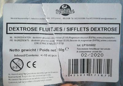Sifflet DEXTROSE - Ingredients