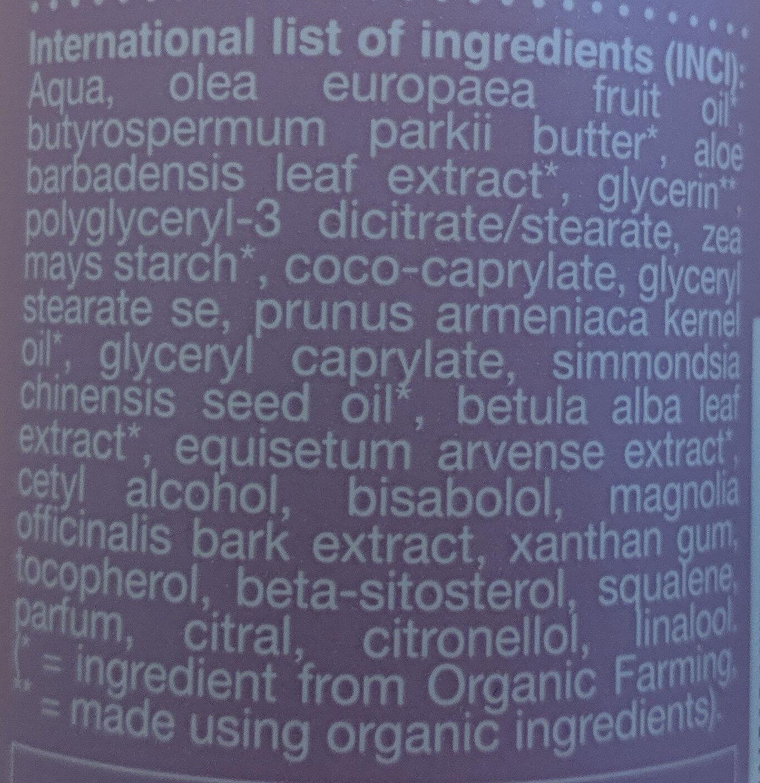 Superfit Body Lotion Nordic Birch - Ingredients
