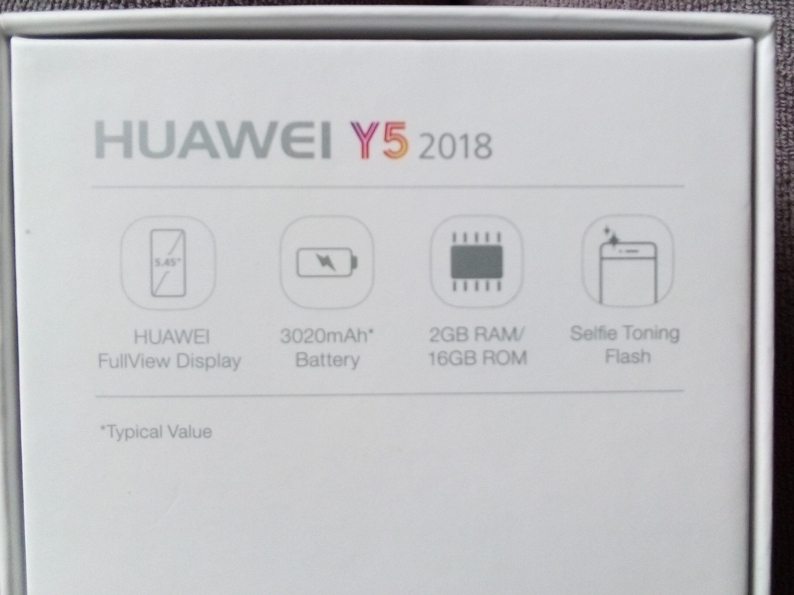 HUAWEI Y5 2018 - Ingredients - fr