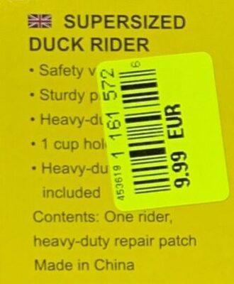 Supersized Duck Rider [#41106] - Ingredients - en