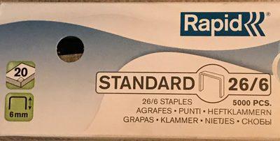 Rapid Agrafes Standard 26 / 6, Galvanisé - Product