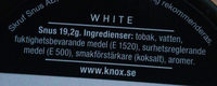 Knox White portion - Ingredients