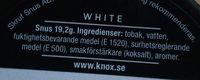 Knox White portion - Ingredients - sv