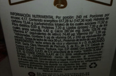 leche - Ingredients
