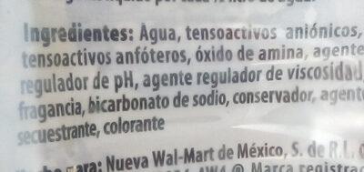Detergente liquido para trastes - Ingredients - es