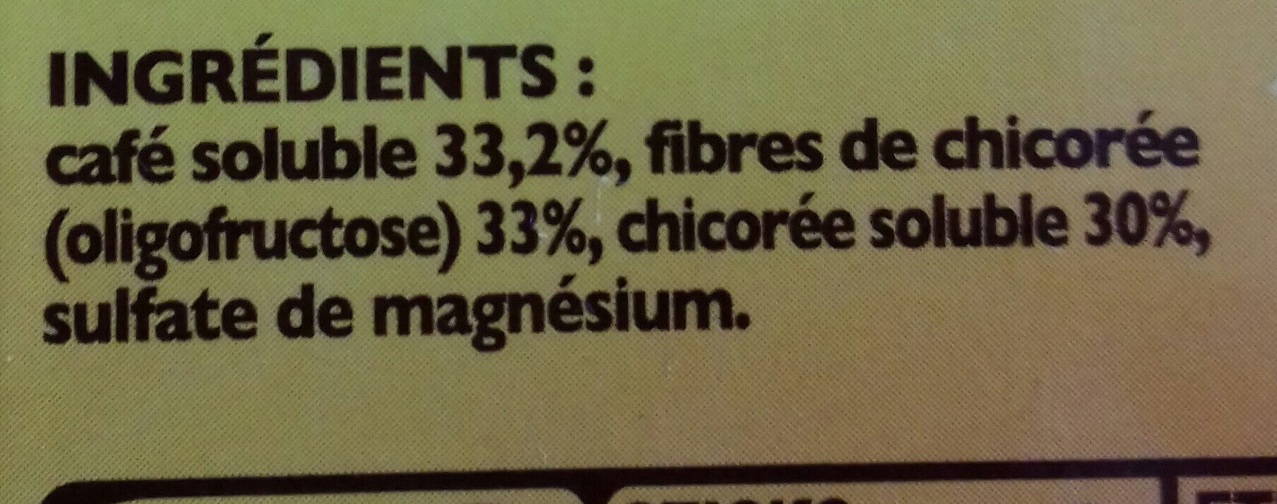 ricoré - Ingredients - fr