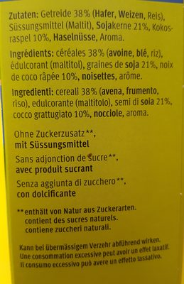 Farmer Crunchy - Ingredients - de