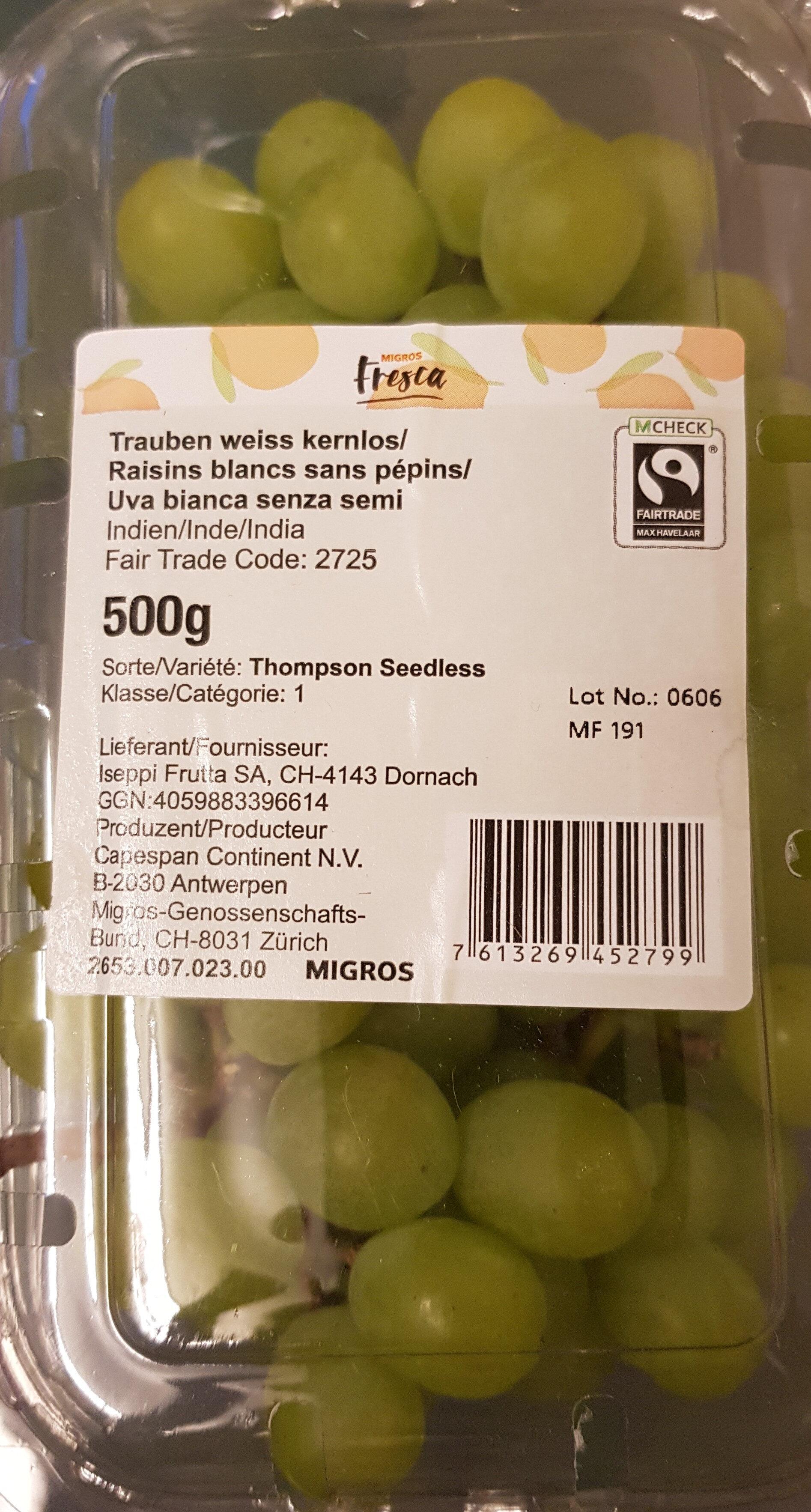 Trauben weiss kernlos - Product