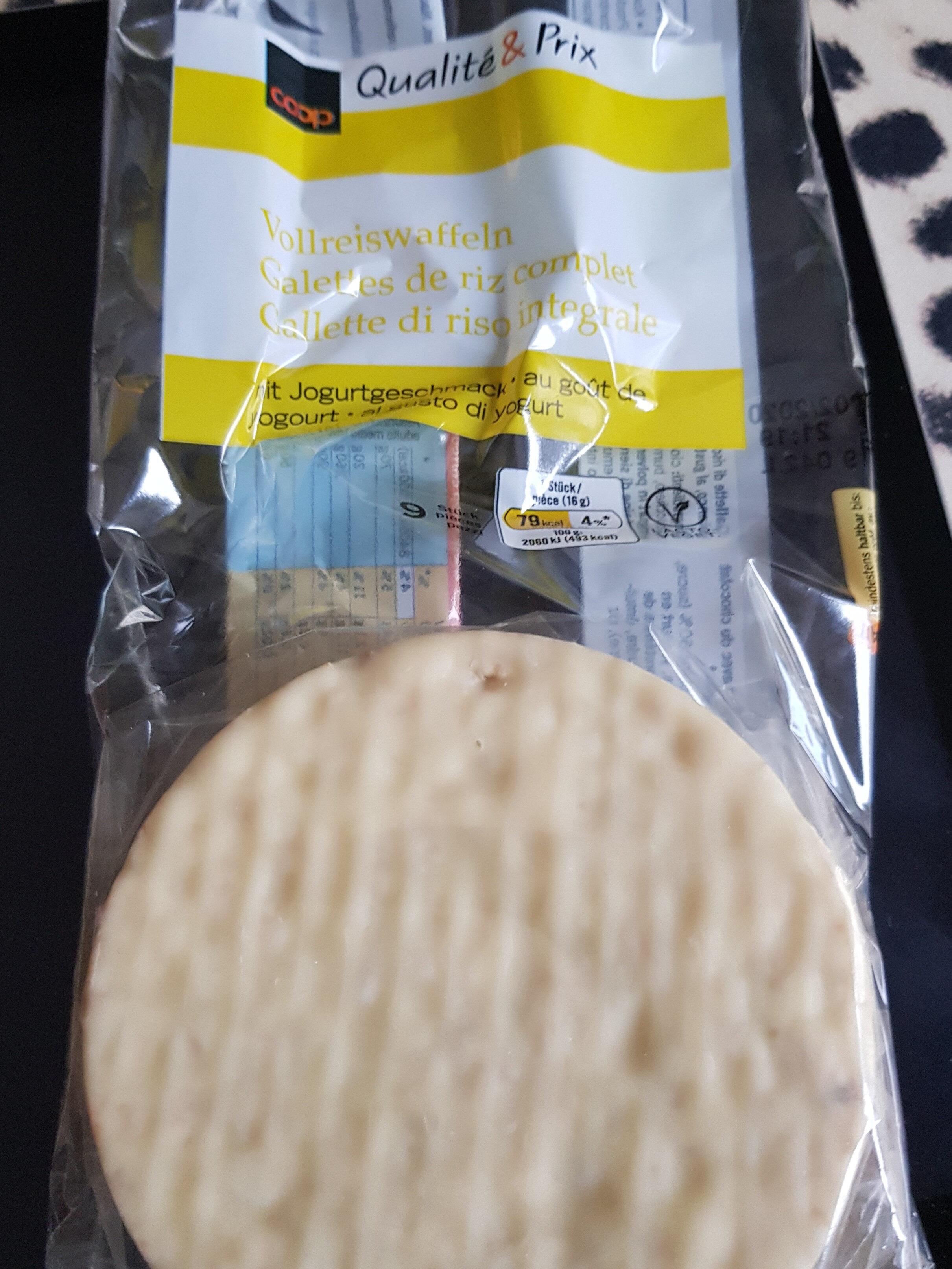 galette de riz complet avec chocolat blanc - Product - fr