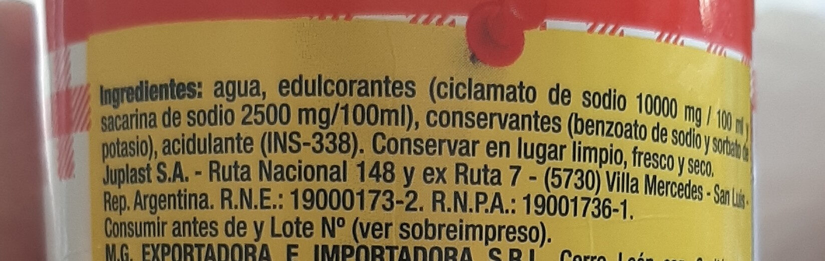 edulcorante de mesa - Ingredients - es