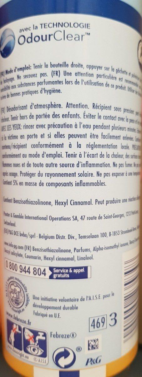 Air - Ingredients - fr