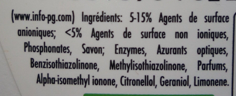 Compact Ariel Original - Ingredients