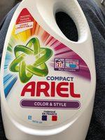 lessive compact ariel coloré et style - Product