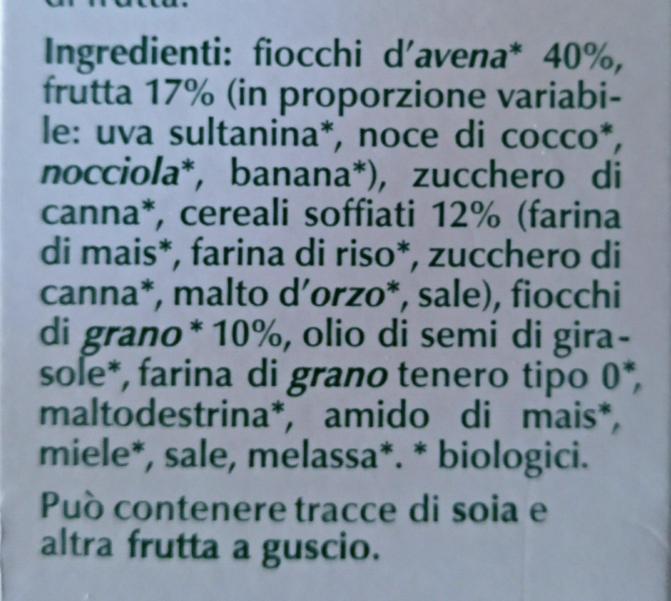 muesli croccante biologico - Ingredients - fi