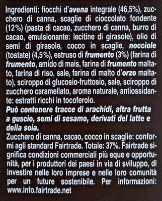muesli croccante - Ingredients