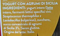 yogurt con agrumi di Sicilia - Ingredients