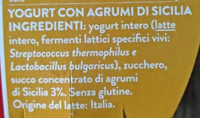 yogurt con agrumi di Sicilia - Ingredients