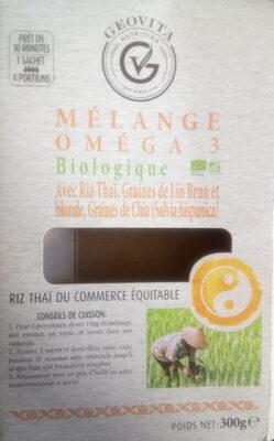 Mélange oméga 3 biologique avec riz Thaï, graines de lin brun et blonde, graines de Chia (salvia hispanica) - Product - fr