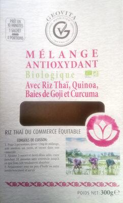 Mélange antioxydant avec riz Thaï, quinoa, baies de Goji et Curcuma - Product