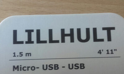 Cable Micro USB - USB LILLHULT 1.5m - Ingrédients