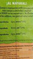 Bebida de avena - Ingredients - es