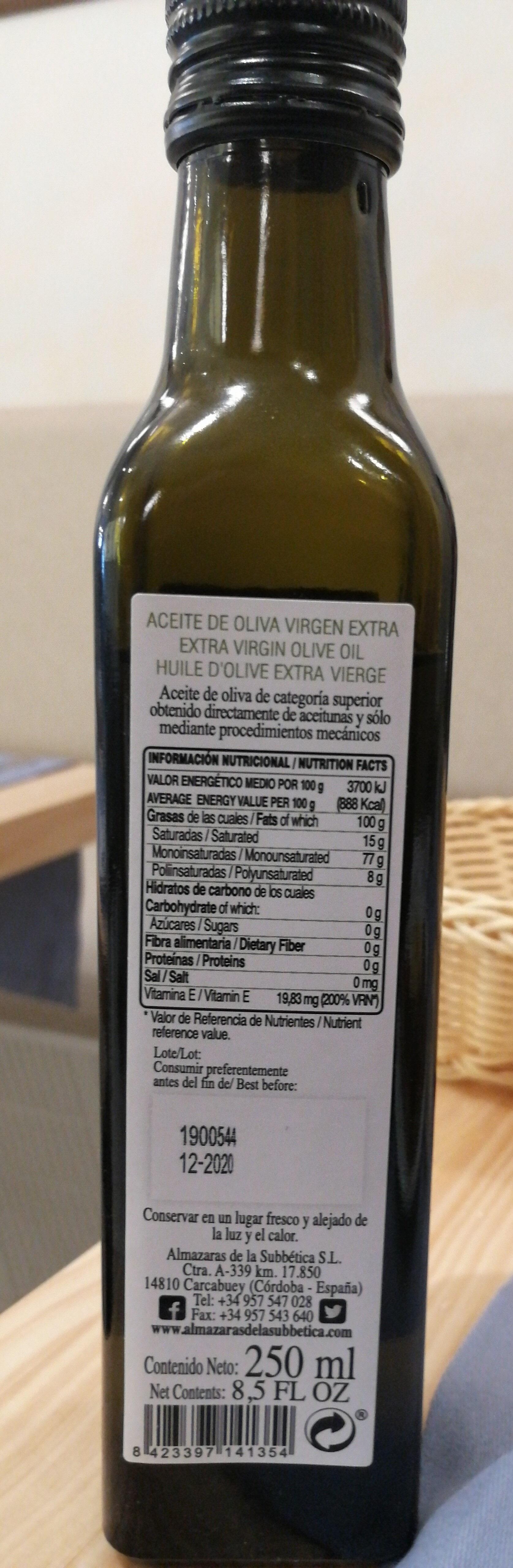 aceite de oliva virgen extra - Ingredients - es