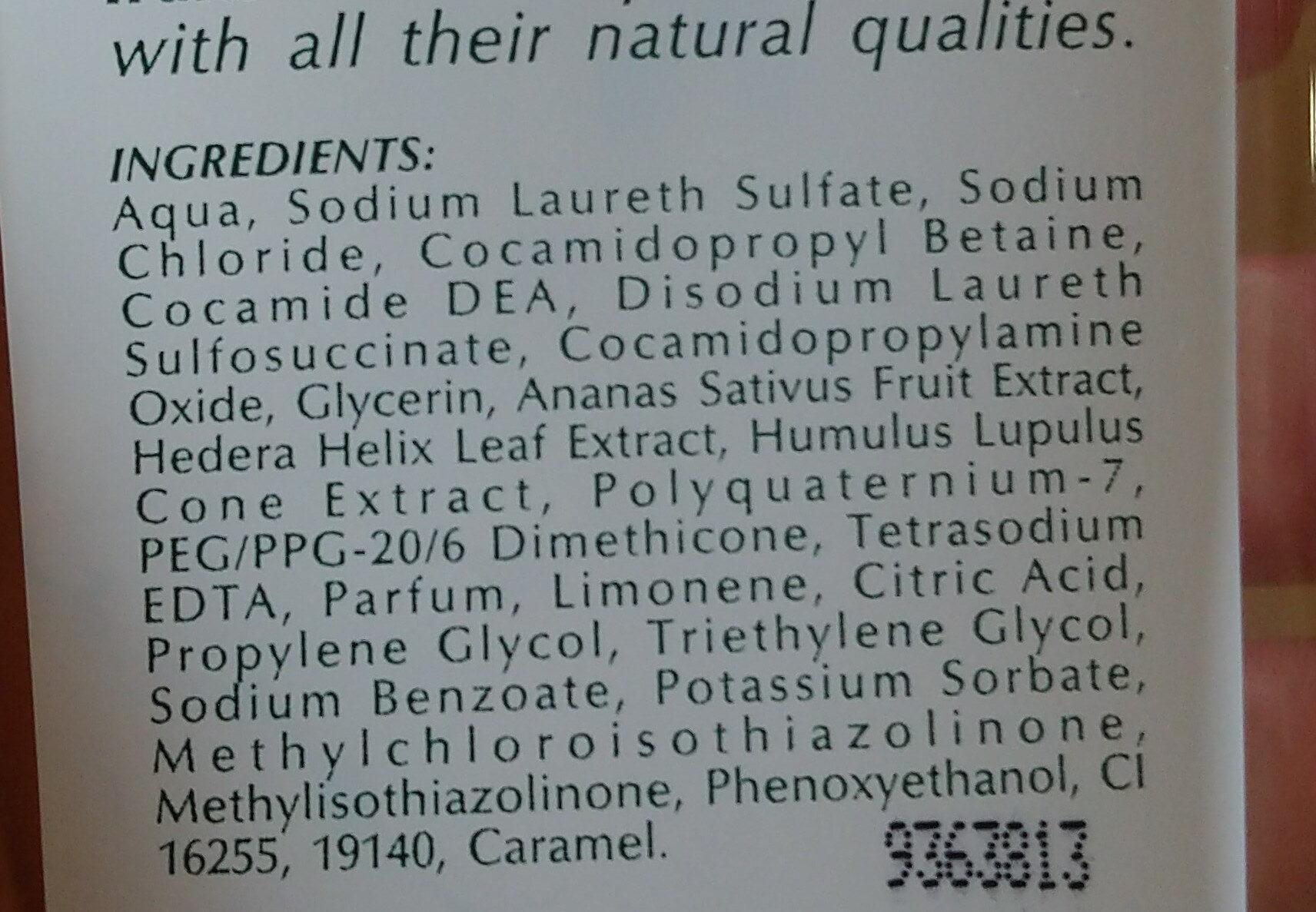 Champu Cabellos Grasos - Ingredients - es