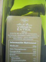 Aceite de Oliva Virgen Extra - Ingredients - xx