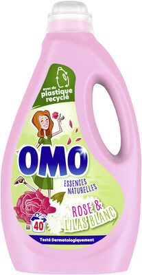 Omo Lessive Liquide Rose & Lilas Blanc 2l 40 Lavages - Product - fr