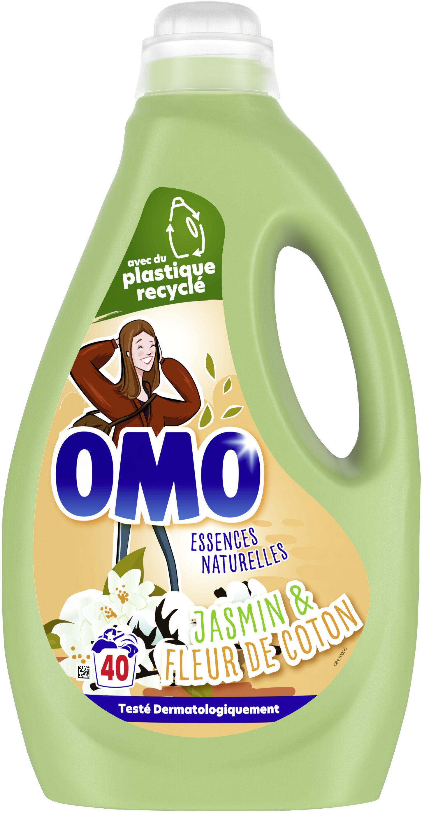 Omo Lessive Liquide Jasmin & Fleur de Coton 40 Lavages - 2l - Product - fr