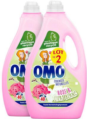 Omo Lessive Liquide Rose & Lilas Blanc 2L 40 lavages lot de 2 - Product - fr