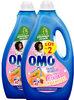 Omo Lessive Liquide Pêche & Pamplemousse 2l 40 Lavages Lot de 2 - Produit