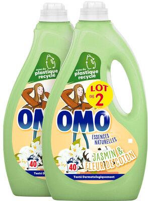 Omo Lessive Liquide Jasmin & Fleur de Coton 2l 40 Lavages Lot de 2 - Product - fr